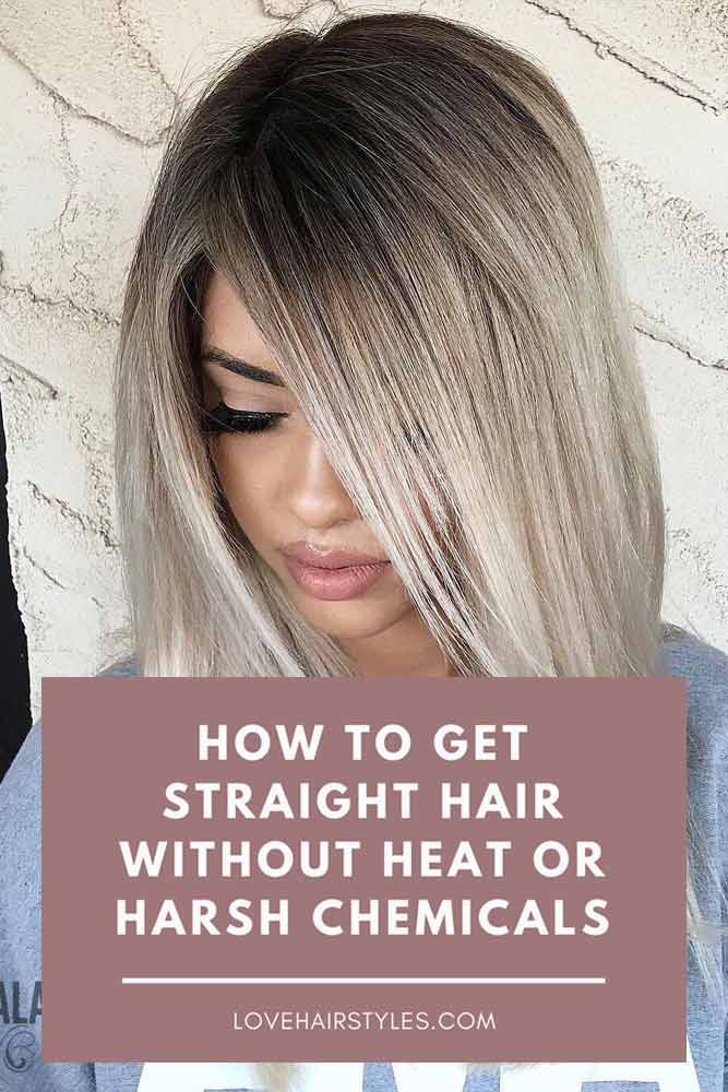 How To Get Straight Hair Without Heat Or Harsh Chemicals #straighthair #hairtreatments #longhair