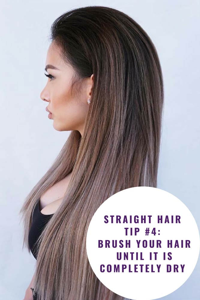 Brush Your Hair Until It's Completely Dry #straighthair #hairtreatments #longhair