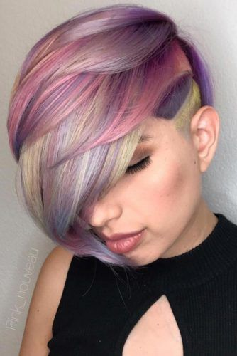 Colored Creative And Outstanding Undercut Hairstyle #undercuthairstyles #hairstyles #undercutdesign