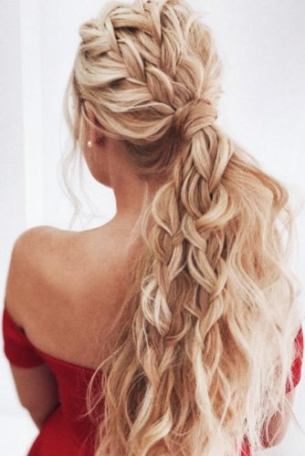 Ponytails With Double Braids #braids #ponytail