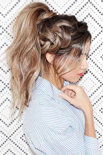 Ponytails With Dutch Braids #braids #ponytail