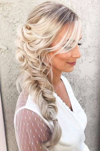 Side Fishtail Braid Hairstyles #braids
