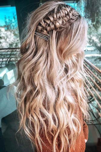 Side Infinity Braid Hairstyles #braids