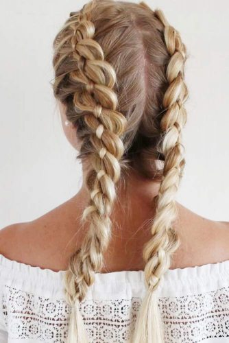 Beautiful Hairstyles with Double Btaids picture 2