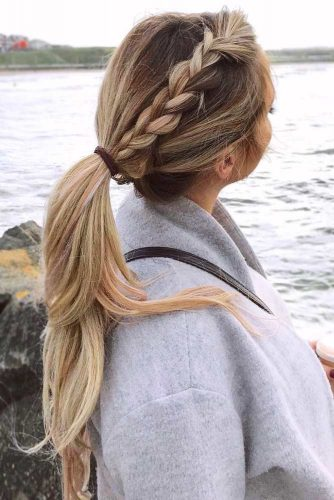 Pretty Braided Updo Hairstyles to Rock Ponytail #longhair #updo #ponytail