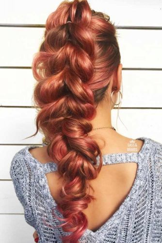 Trendy Pull Through Braid Hairstyles picture 2