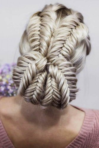 Braided Updo Hairstyles #updo #braids #buns
