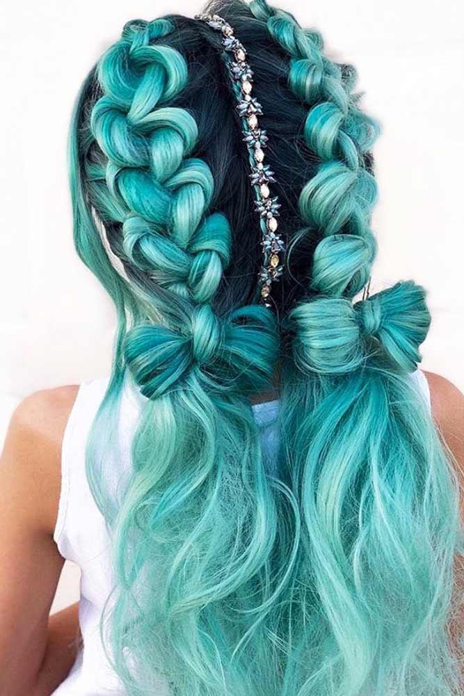 Perfect Double Braids Ponytails #braids #ponytails