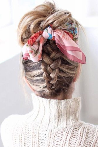 Dutch Braided Updo Hairstyles #braids #updo