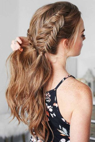 Stylish Dutch Fishtail Braided Ponytails #braids #ponytail