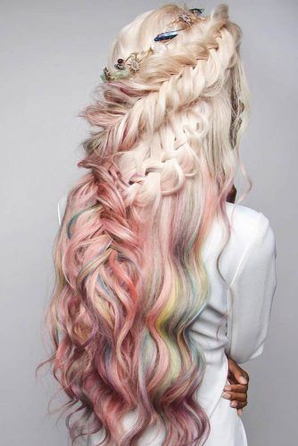 Cool Half Braided Hairstyles Fishtail #braids #longhair