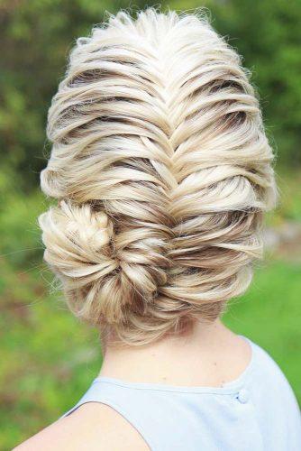 Fishtail Braided Updo Hairstyles #braids #updo
