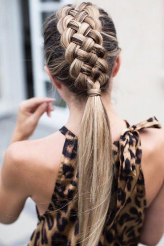 Stylish Five Strand Braided Ponytails #braids #ponytail