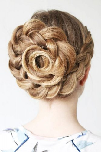 What Is A Rose Braid #updo #braid