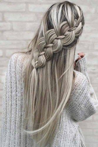 4 Strand Braid #braids #halfup
