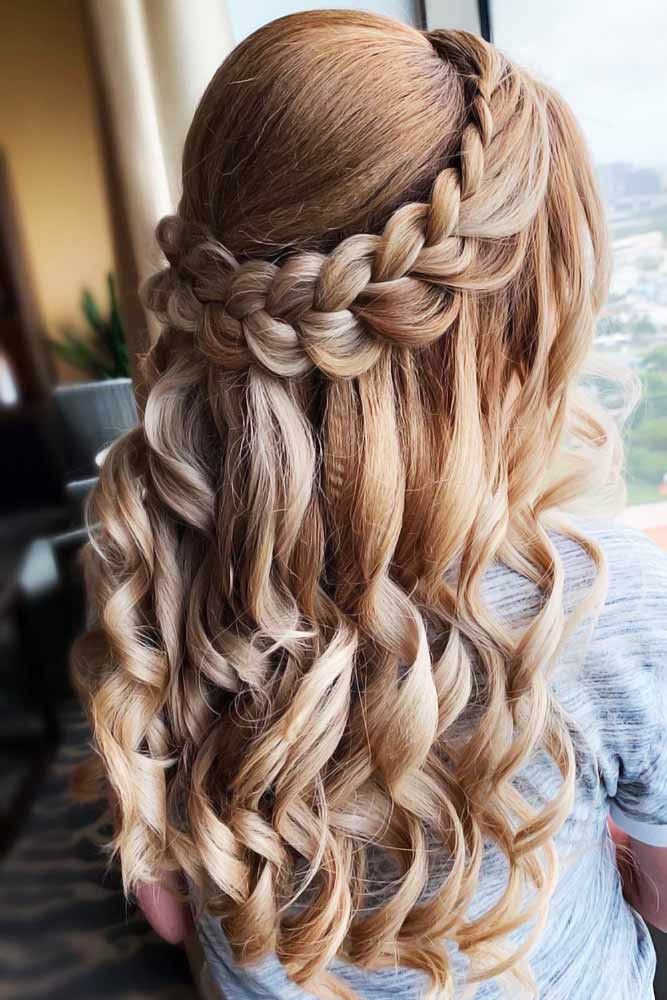 Charming French Braided Crowns #braids #longhair