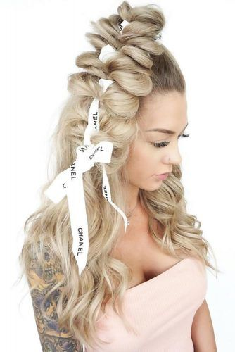 Half-Up Pull Through Braid #braids #longhair
