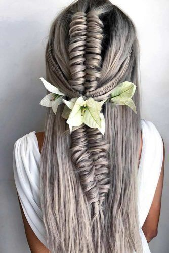 Braided Hairstyles With Flowers #braids #longhair