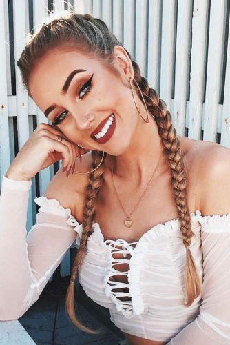 Two French Braids To DIY #longhair #braids