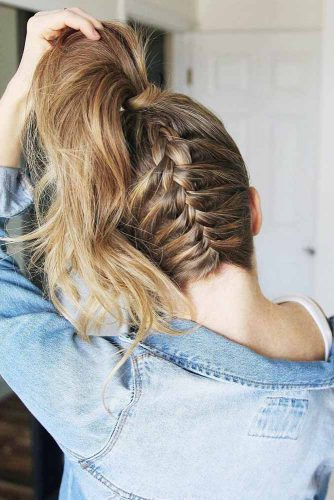 Upside Down Braid #braid #ponytail