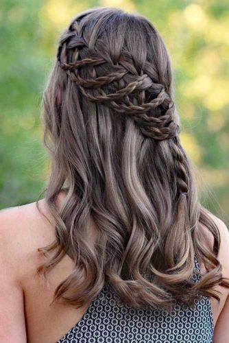 Waterfall Braid #braids #half-up #waterfallbraid