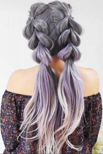 Trendy Pull Through Braided Hairstyles Ponytails #braids #longhair