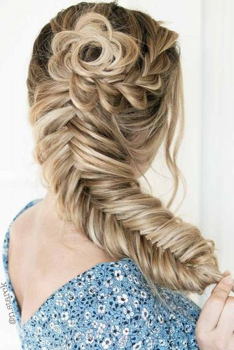 Popular Styles: Big Side Braid, Double Fishtail, And Full Crown Rosette #braids