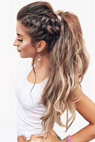 Popular Styles: Simple, Waterfall, and Fishtail Crown Ponytail #braids #ponytail