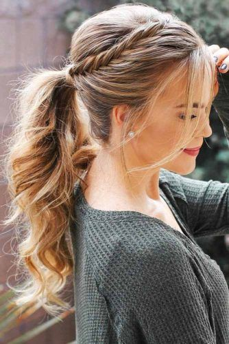 Upgraded Ponytails With Braided Hairstyles #braids #updo #ponytail