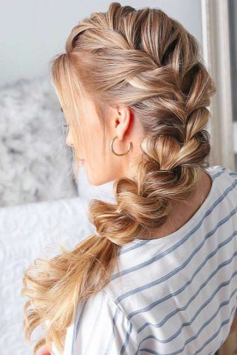 Trendy Pull Through French Braided Hairstyles #braids #longhair