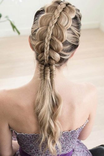 Upgraded Ponytails With Braided Hairstyles Stacked #braids #ponytail