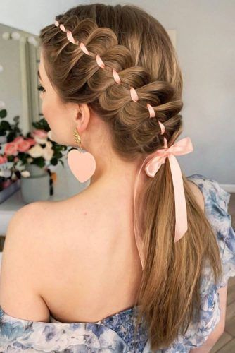 Upgraded Ponytails With Braided Hairstyles #braids #longhair