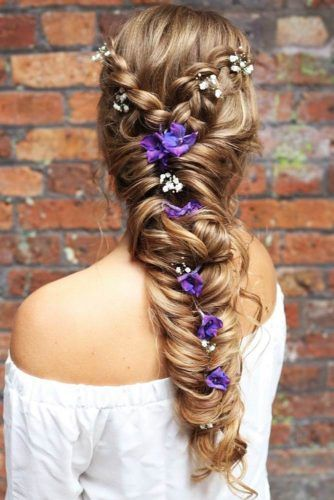 Double Braided Hairstyles With Flowers #braids #longhair