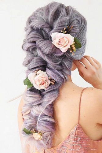 Braided Topsy Tail Hairstyles With Flowers #braids #longhair
