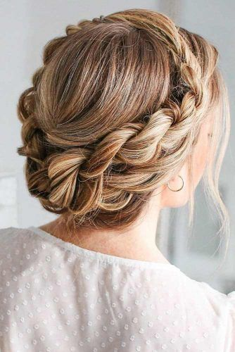 Charming Braided Updo Crowns #braids #updo