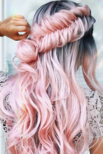 Cute And Easy Hairstyles With Braids Fishtail #braids #half-up