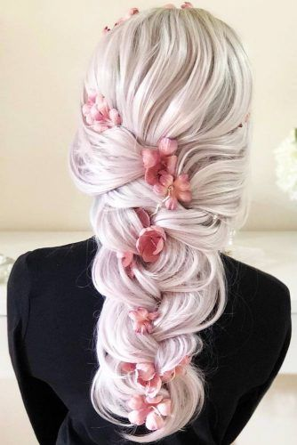 French Braided Hairstyles With Flowers #braids #longhair