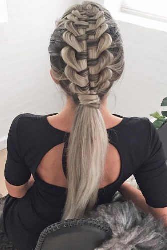 Zipper Braid #braids #longhair #zipperbraid