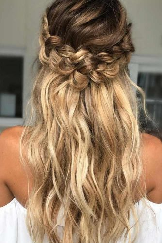 Half Up Updo for Wavy Hair picture3