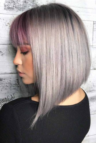 Grey Long Bob Hair picture1
