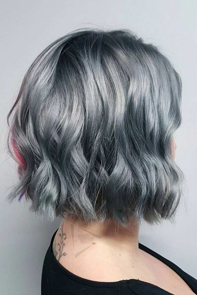 Cute Short Grey Hairstyles #shortgreyhair #shorthaircuts #greycolor #bobhairstyle