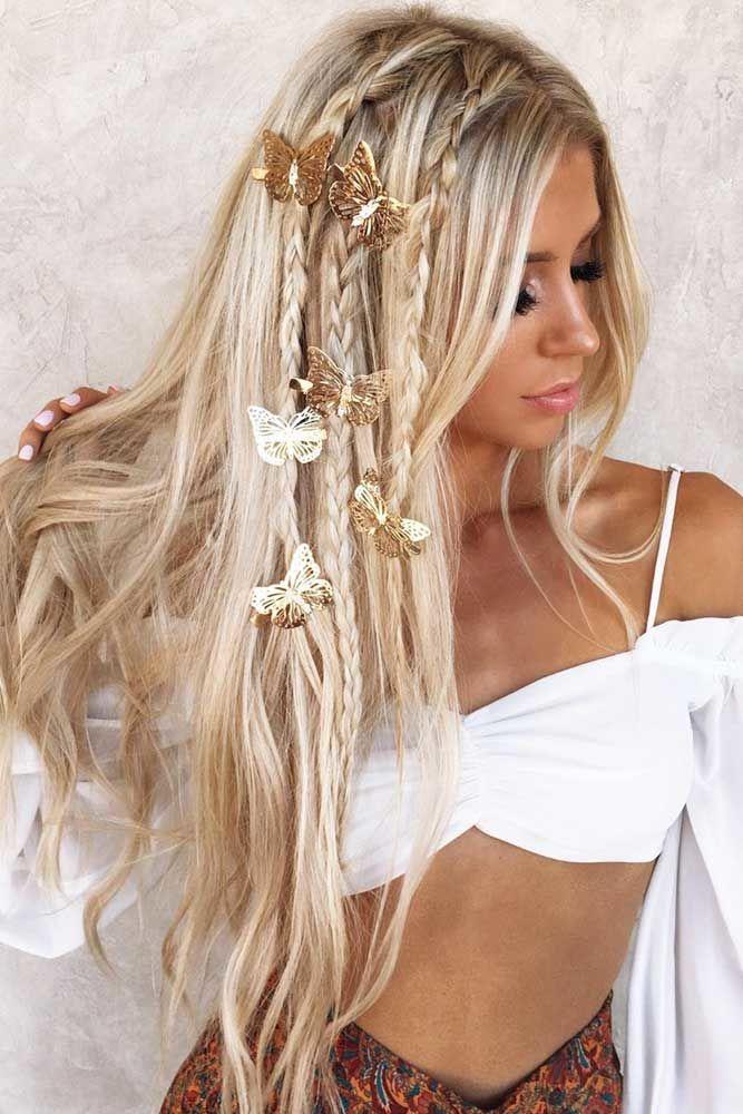 Accessorized Blonde Long Hair #straighthair #longhair