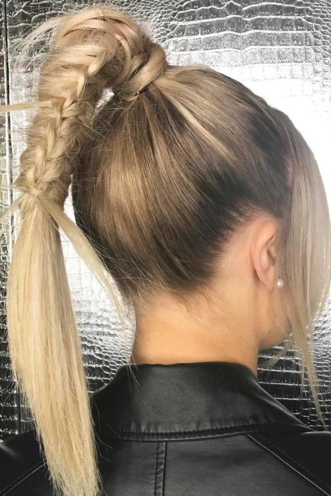 Lovely Ponytail Hairstyles For Long Straight Hair Braid #straighthair #straighthairstyles