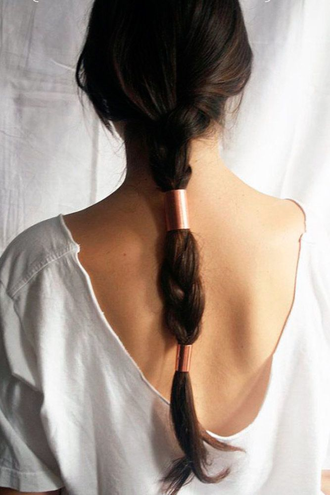 Lovely Ponytail Hairstyles For Long Straight Hair Brown #straighthair #straighthairstyles
