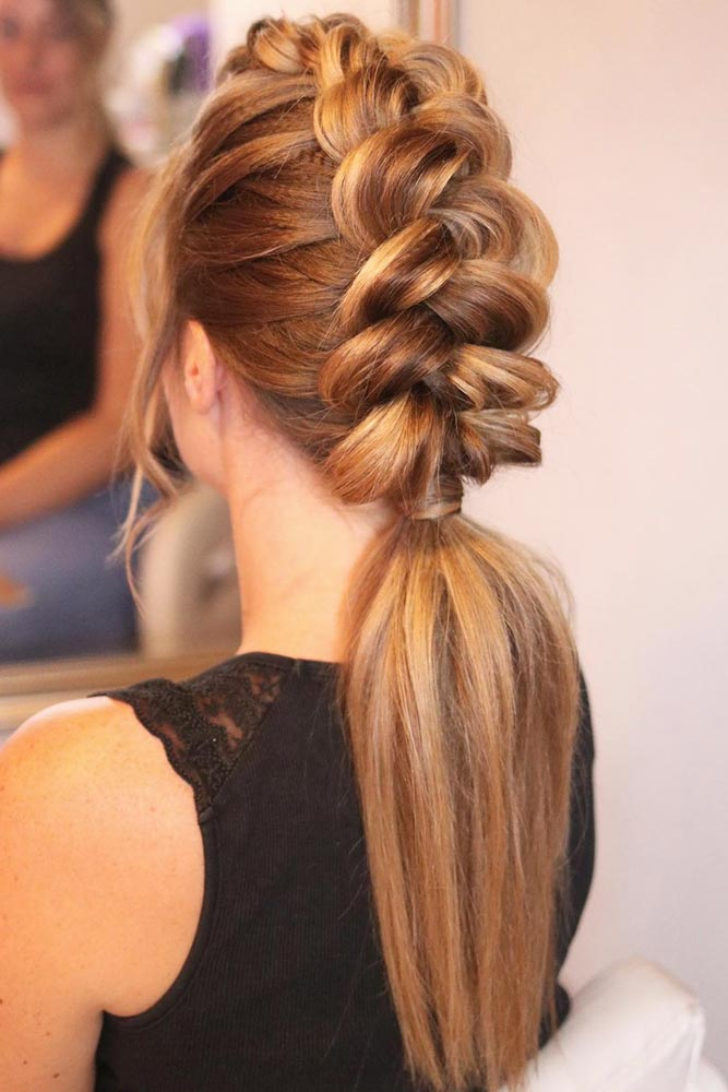 Dutch Braid Into Ponytail #straighthairstyles #longhair #hairstyles