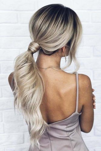 Straight Hairstyles With Low Ponytail #straighthairstyles #longhair #hairstyles