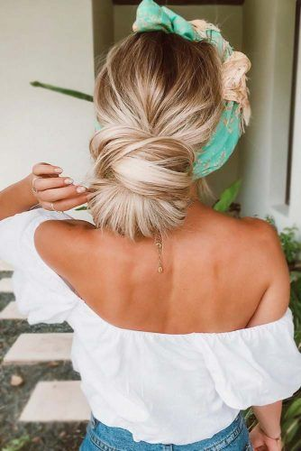 Low Twisted Straight Updos Headband #straighthair #longhair