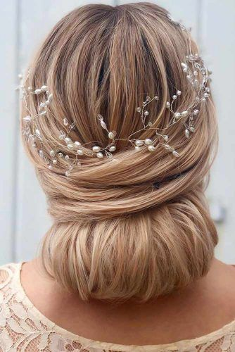 Low Twisted Straight Updos Accessories #straighthair #longhair