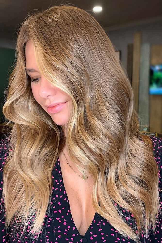 Gold Blonde Hair Waves #darkblondehair #blondehair