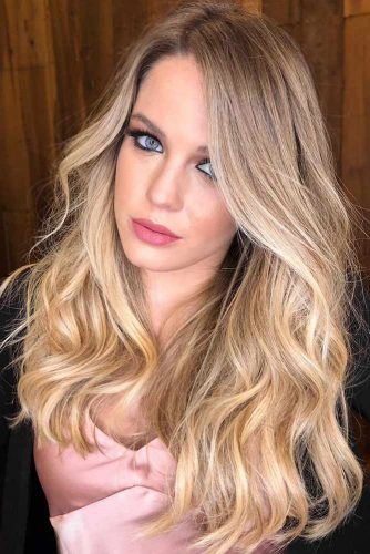 Blonde To Light Gold Shade #blondehair #highlights